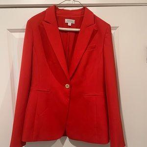 Red Tahari Crepe Blazer